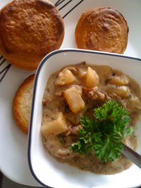cooked chowder