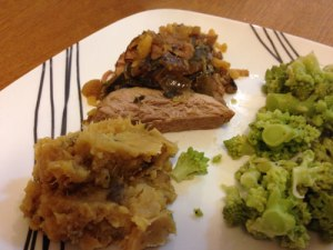 Pork Loin Pablano Plate